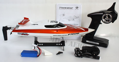 #BT009O Feilun FT009 2.4G 4CH Water Cooling R/C Boat (Orange)